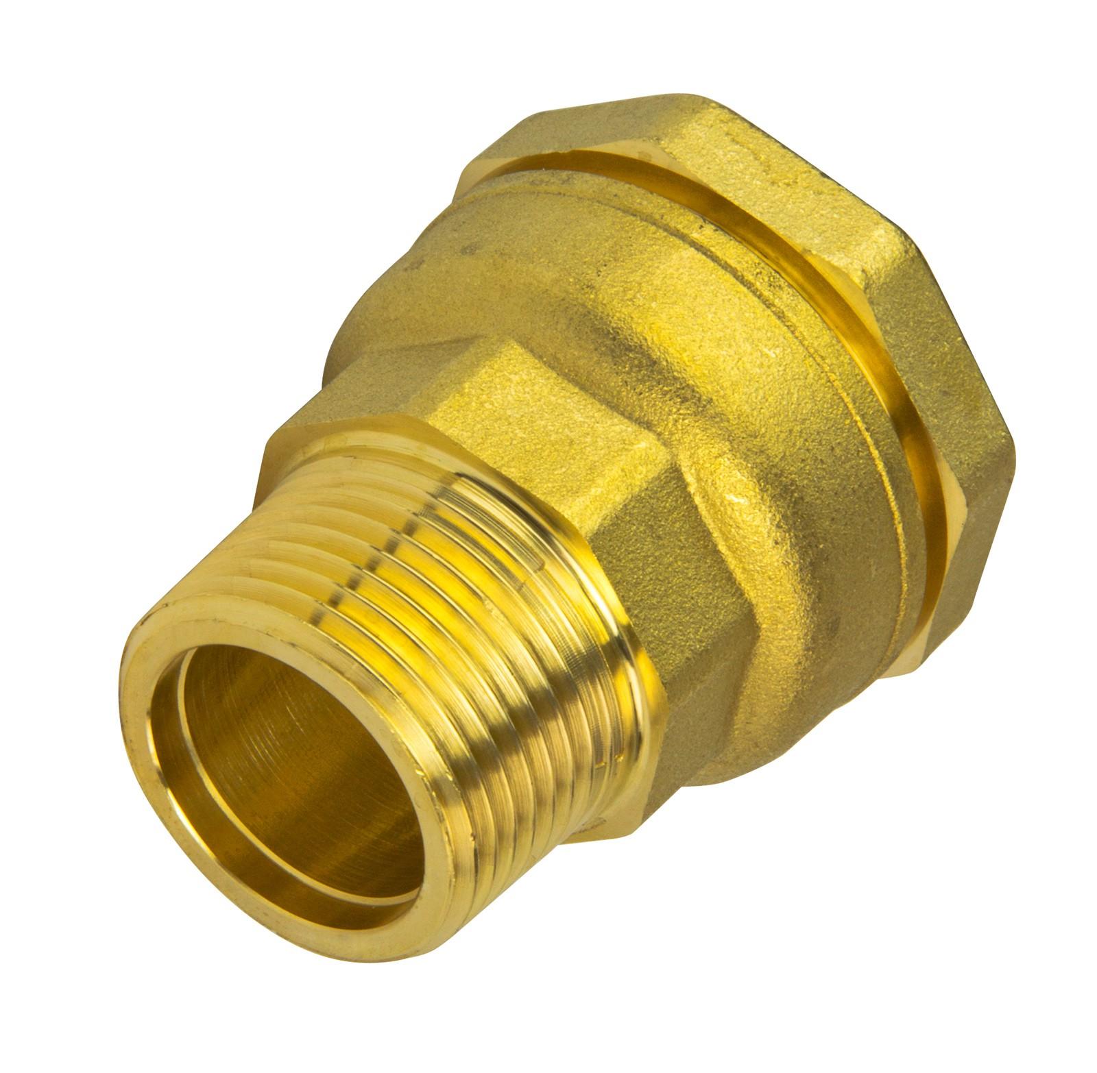 Großartig Messing PE Rohr Verschraubung 32 mm x 3/4 Zoll AG Übergang  OA47