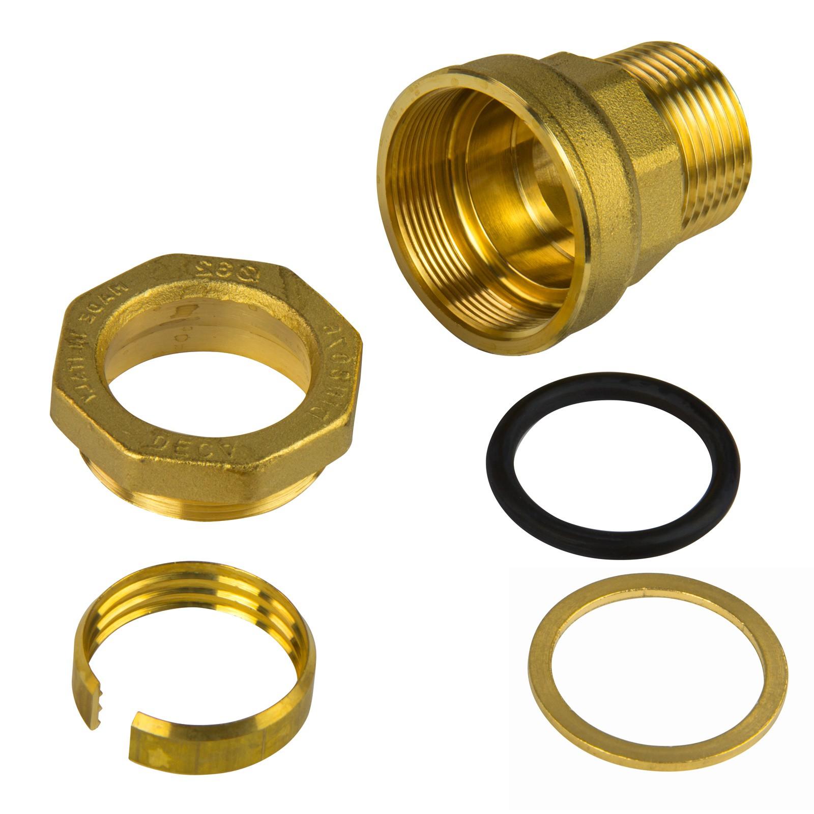 Gut Messing PE Rohr Verschraubung 32 mm x 3/4 Zoll AG Übergang  BZ92