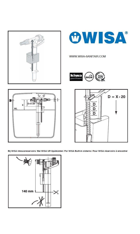 wisa universal ventil f llventil 3 8 wc. Black Bedroom Furniture Sets. Home Design Ideas