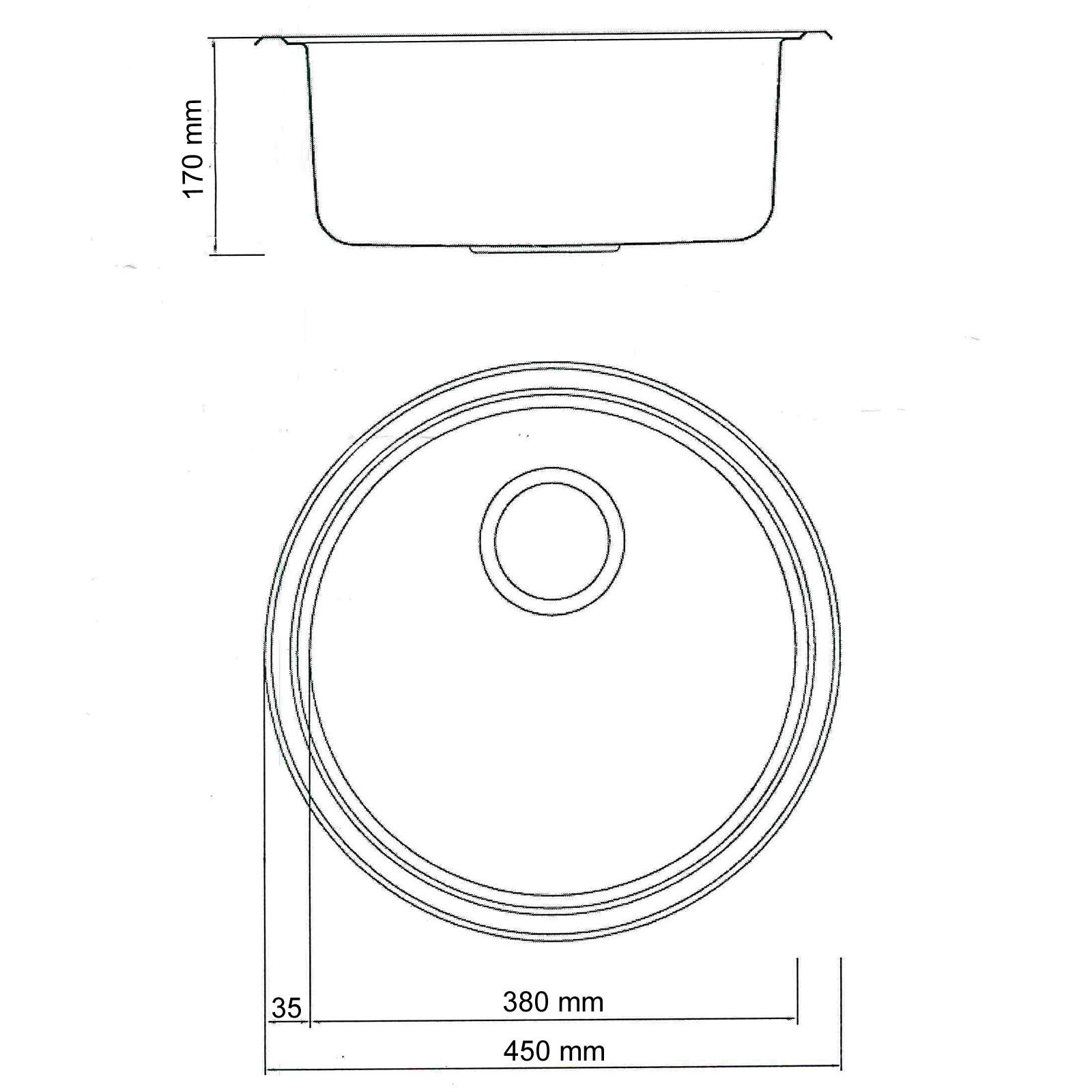 Edelstahl Einbauspüle Ronda1 Waschbecken Spüle Küchenspüle