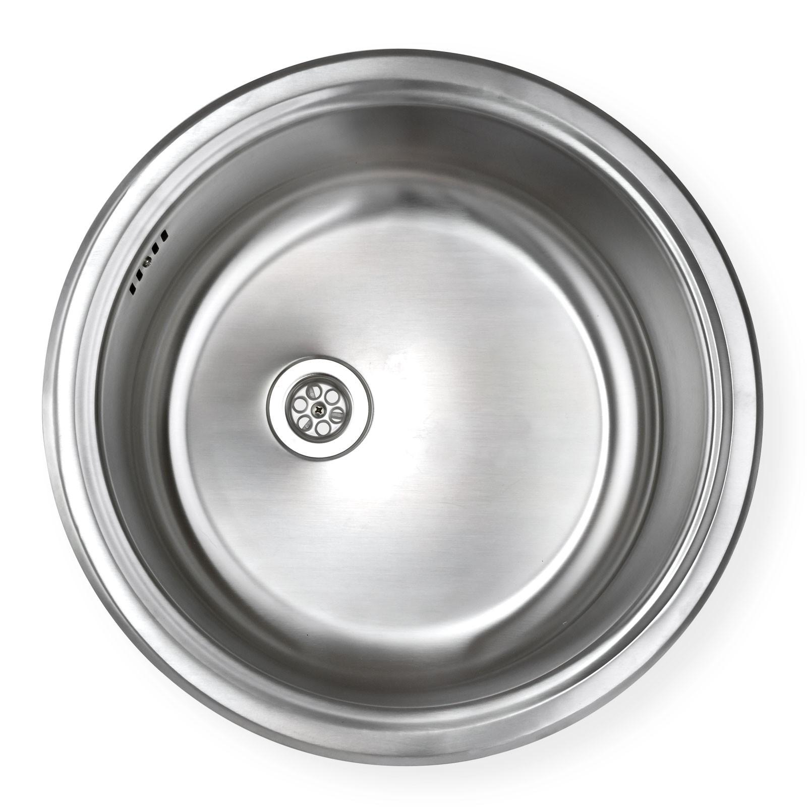 edelstahl einbausp le ronda1 waschbecken sp le k chensp le rund On einbauspüle edelstahl