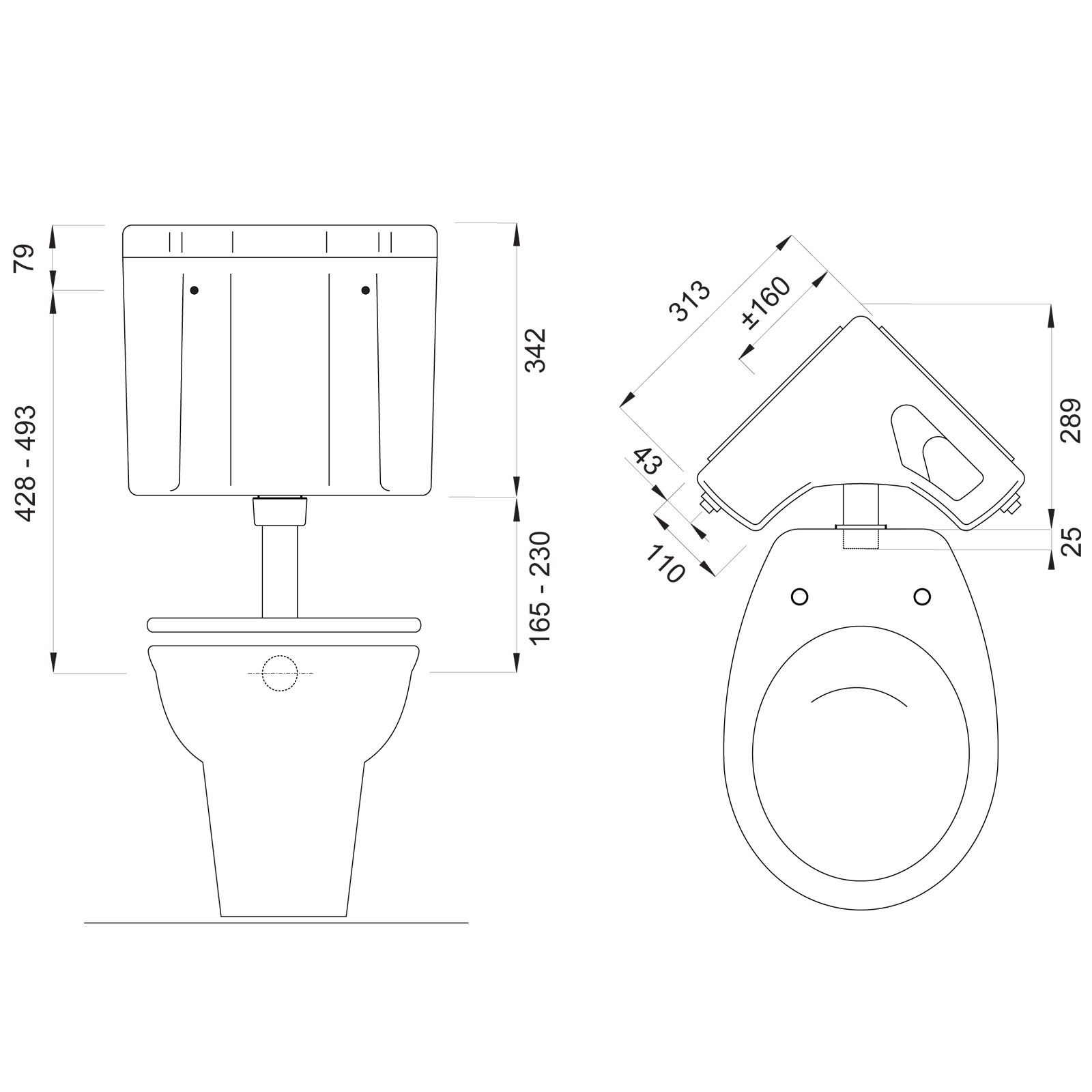 wisa 770 aufputz ecksp lkasten sp lkasten toilettensp lkasten sp lung 6 9 l wei. Black Bedroom Furniture Sets. Home Design Ideas