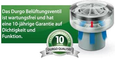 Durgo Belüftungsventil für Abwasseranlagen - alternative zur Dachentlüftung