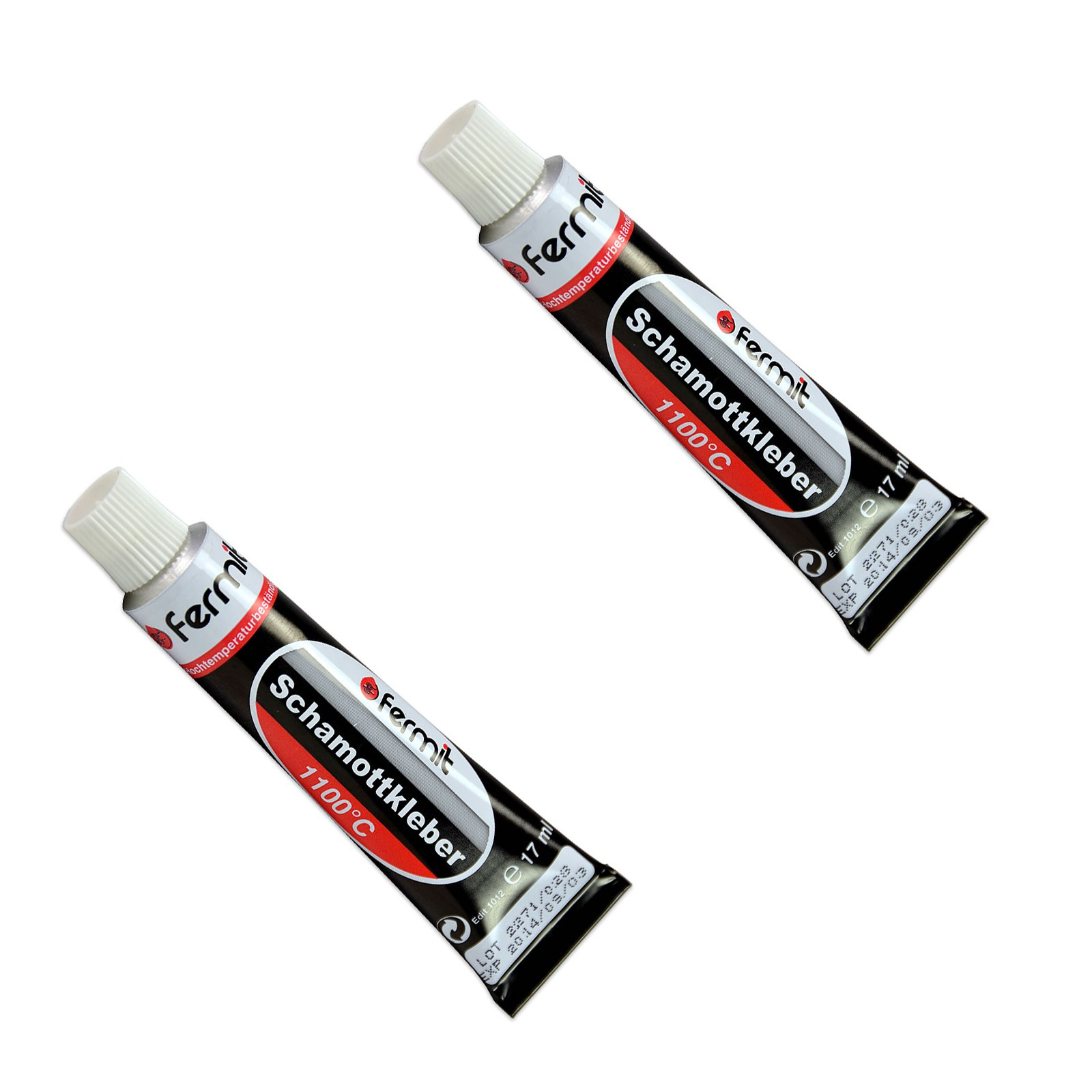 2x schamottkleber ofenschnurkleber 17ml tube feuerfester kleber ebay. Black Bedroom Furniture Sets. Home Design Ideas