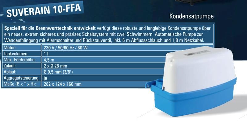 lomac suverain 10ffa a kondensatpumpe kondenswasserpumpe. Black Bedroom Furniture Sets. Home Design Ideas