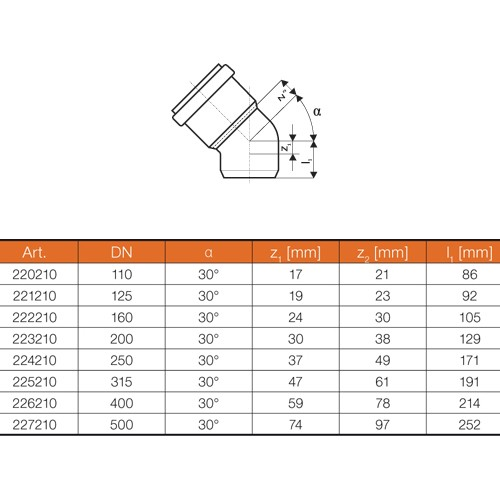 ostendorf kg bogen dn315 30 kgb rohr winkel rohrbogen abwasserrohr kanalrohr ebay. Black Bedroom Furniture Sets. Home Design Ideas