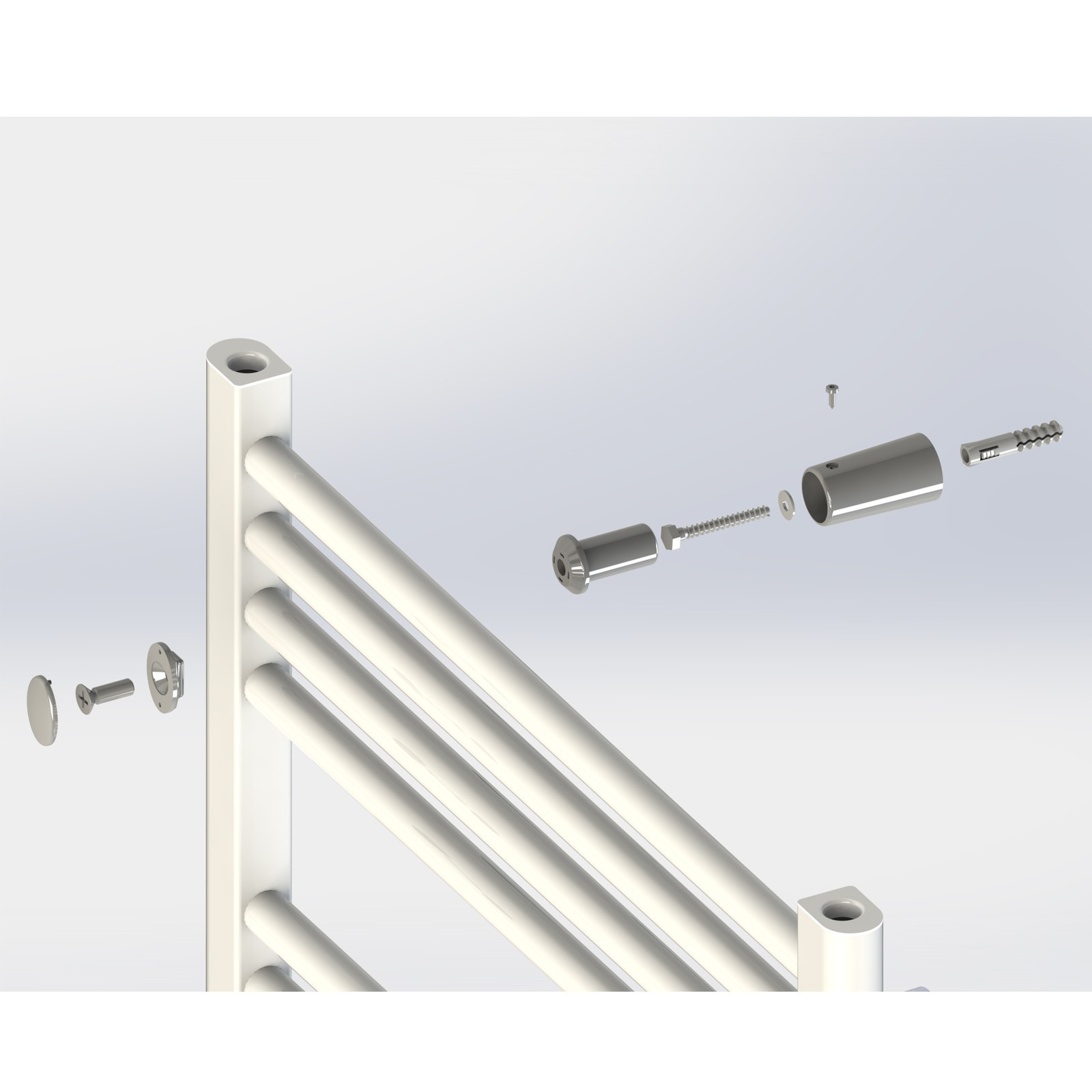 badheizk rper 600x1000 mm 60x100 cm gerade au enanschlu handtuchheizk rper ebay. Black Bedroom Furniture Sets. Home Design Ideas
