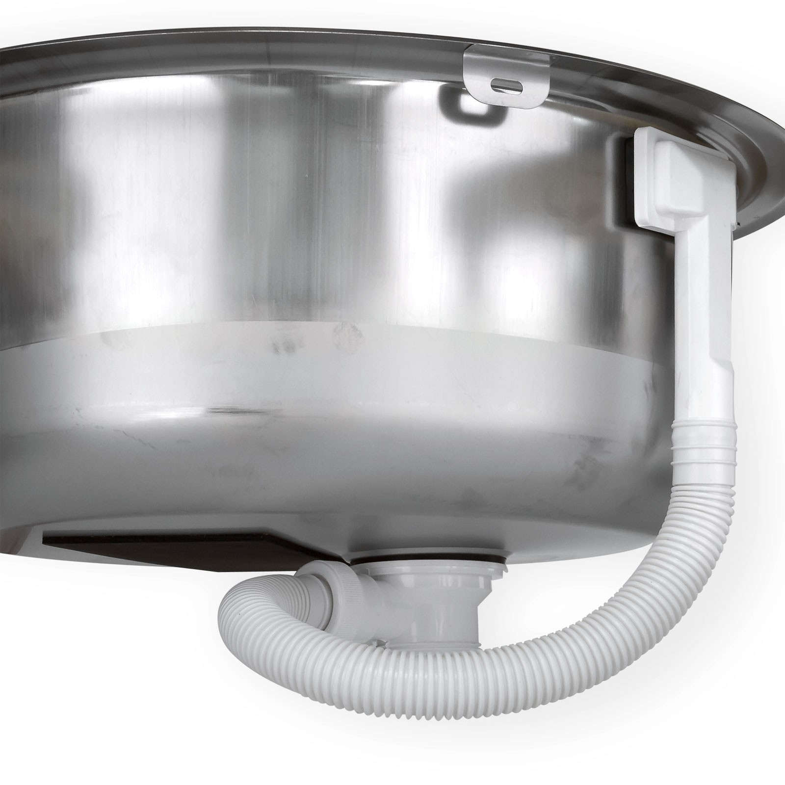 Edelstahl waschbecken spule einbauspule spulbecken for Einbauspüle rund