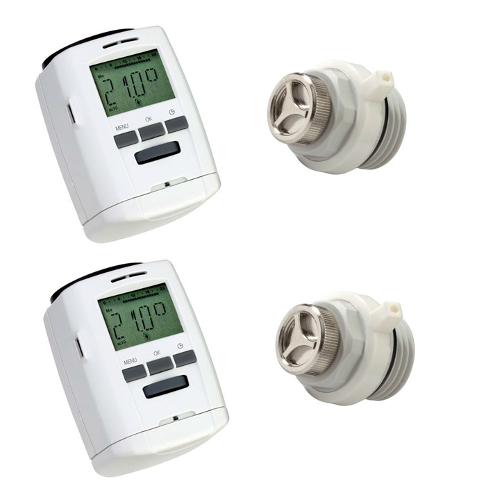 programmierbares heizk rper thermostat energiesparregler f r heizk rper ebay. Black Bedroom Furniture Sets. Home Design Ideas