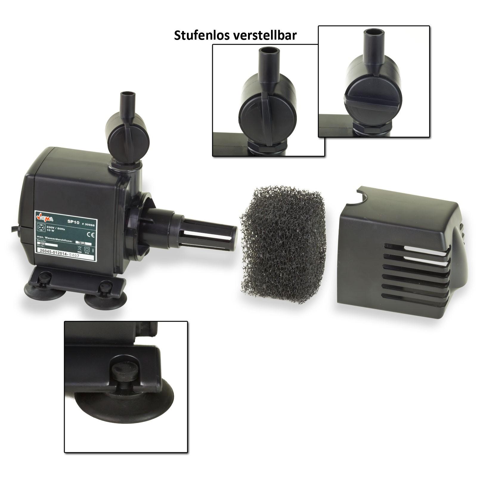 Dema springbrunnenpumpe sp20 wasserspiel pumpe f r for Gartenteich ohne pumpe