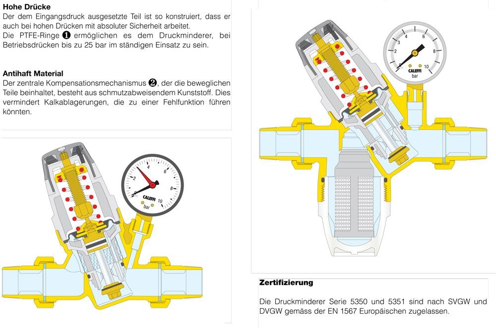 druckminderer 1 1 2 zoll dn40 wasser set mit manometer. Black Bedroom Furniture Sets. Home Design Ideas