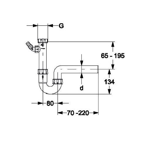 sp lensiphon dn50 x 1 1 2 zoll siphon sifon r hrensiphon. Black Bedroom Furniture Sets. Home Design Ideas
