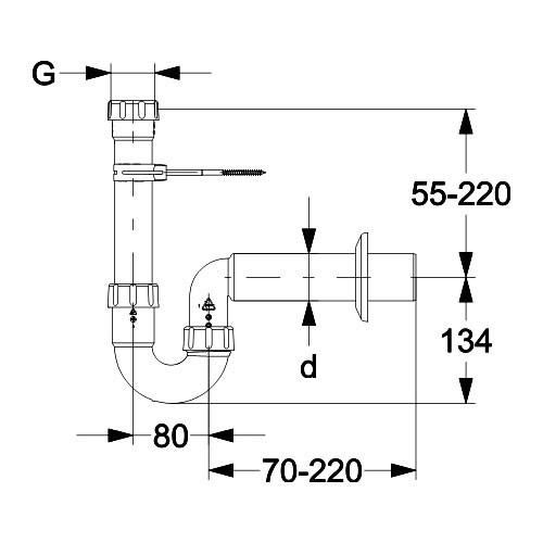waschmaschinensiphon dn40 siphon waschmaschine ablaufgarnitur. Black Bedroom Furniture Sets. Home Design Ideas