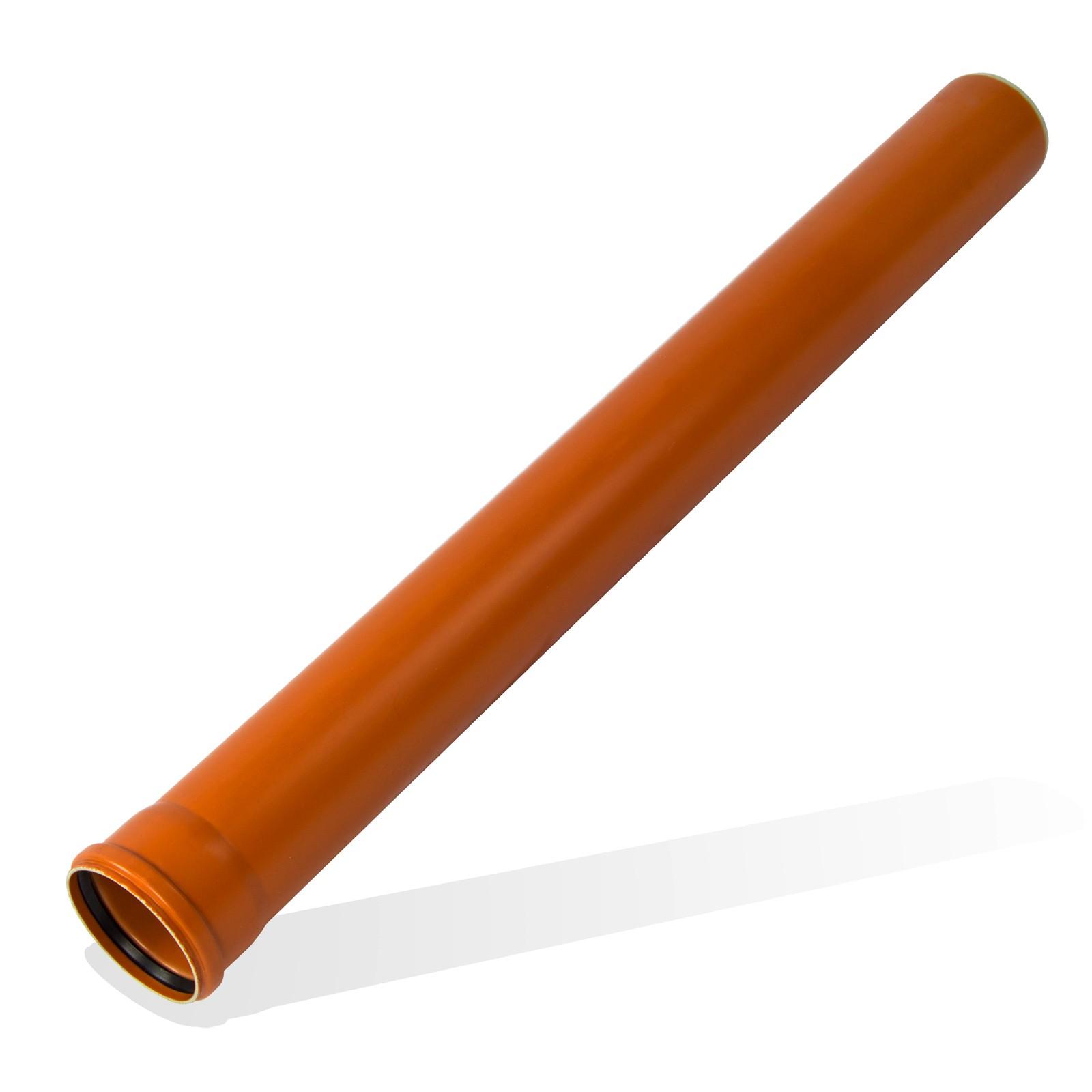 kg rohr dn110 1000mm 1m abwasserrohr 100mm kanalrohr orange. Black Bedroom Furniture Sets. Home Design Ideas
