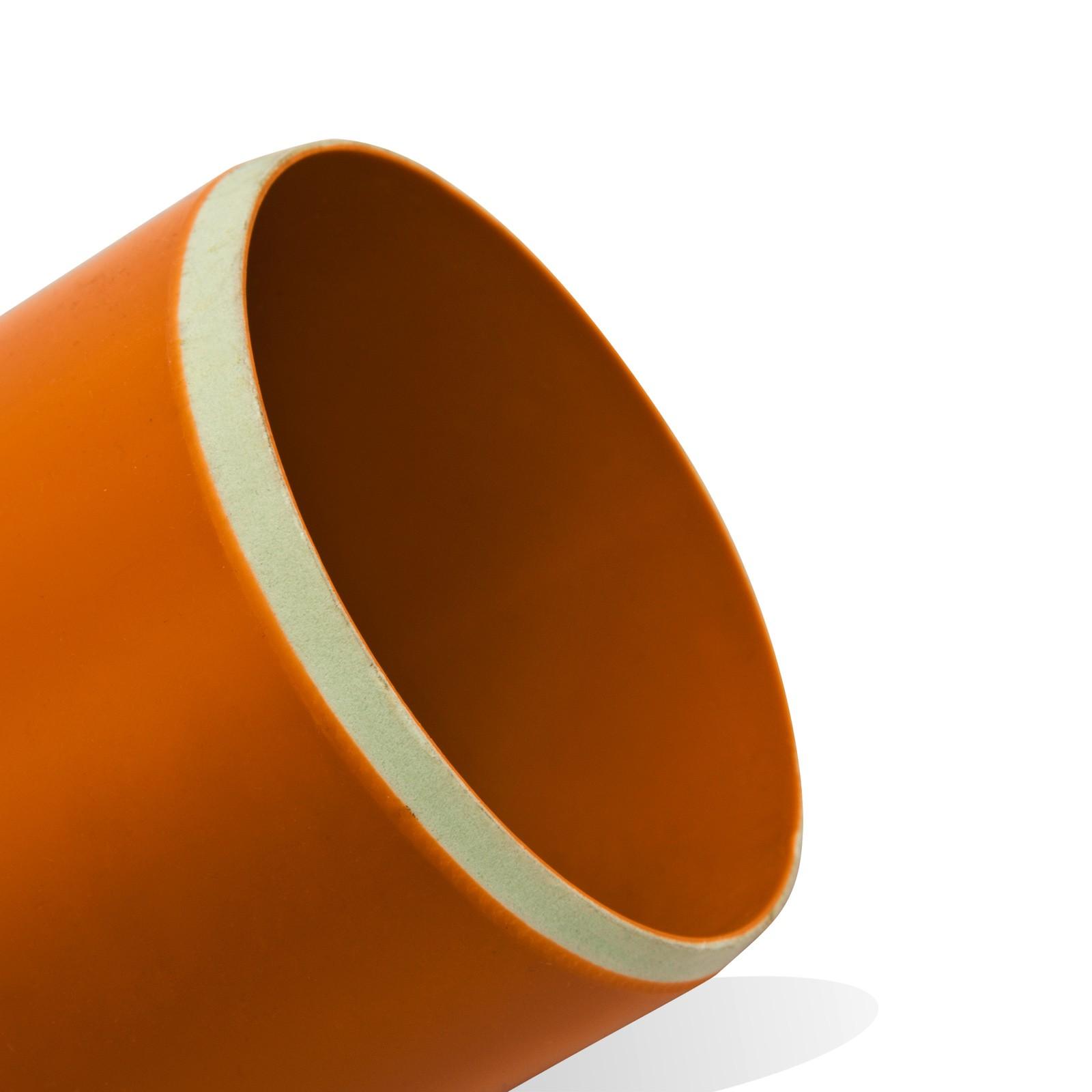 kg rohr dn160 500mm abwasserrohr 150mm kanalrohr orange. Black Bedroom Furniture Sets. Home Design Ideas