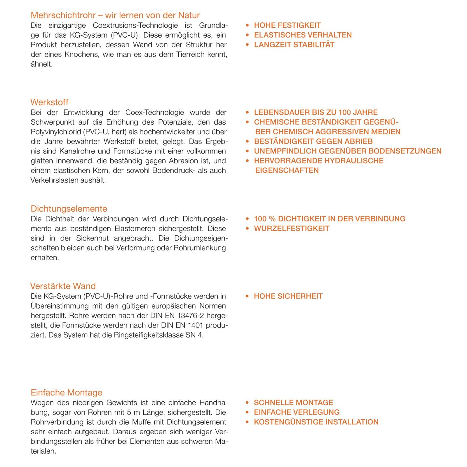 kg rohr dn315 2000mm 2m abwasserrohr 300mm kanalrohr orange. Black Bedroom Furniture Sets. Home Design Ideas