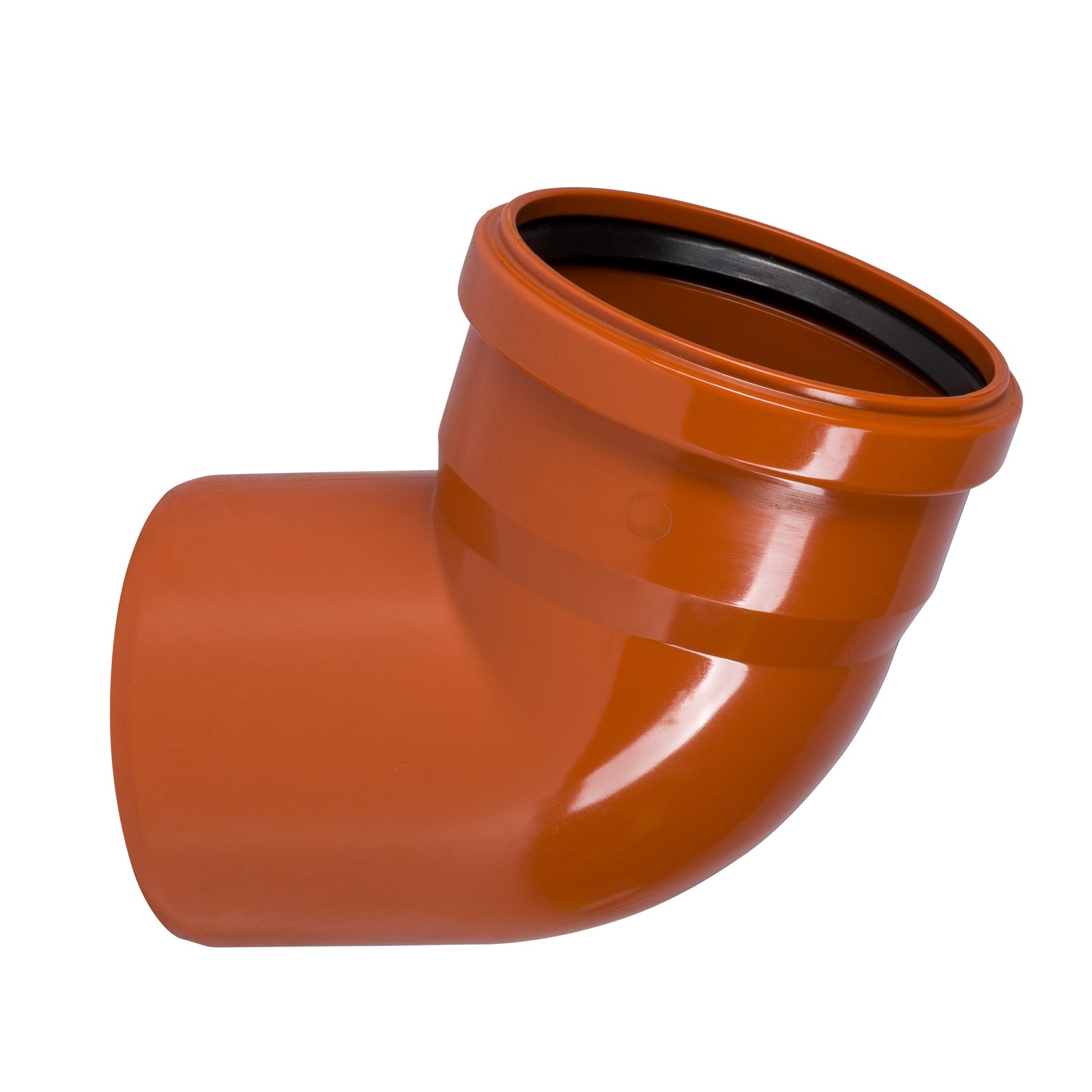 kg bogen dn110 67 grad rohr 100 mm abwasserrohr orange. Black Bedroom Furniture Sets. Home Design Ideas