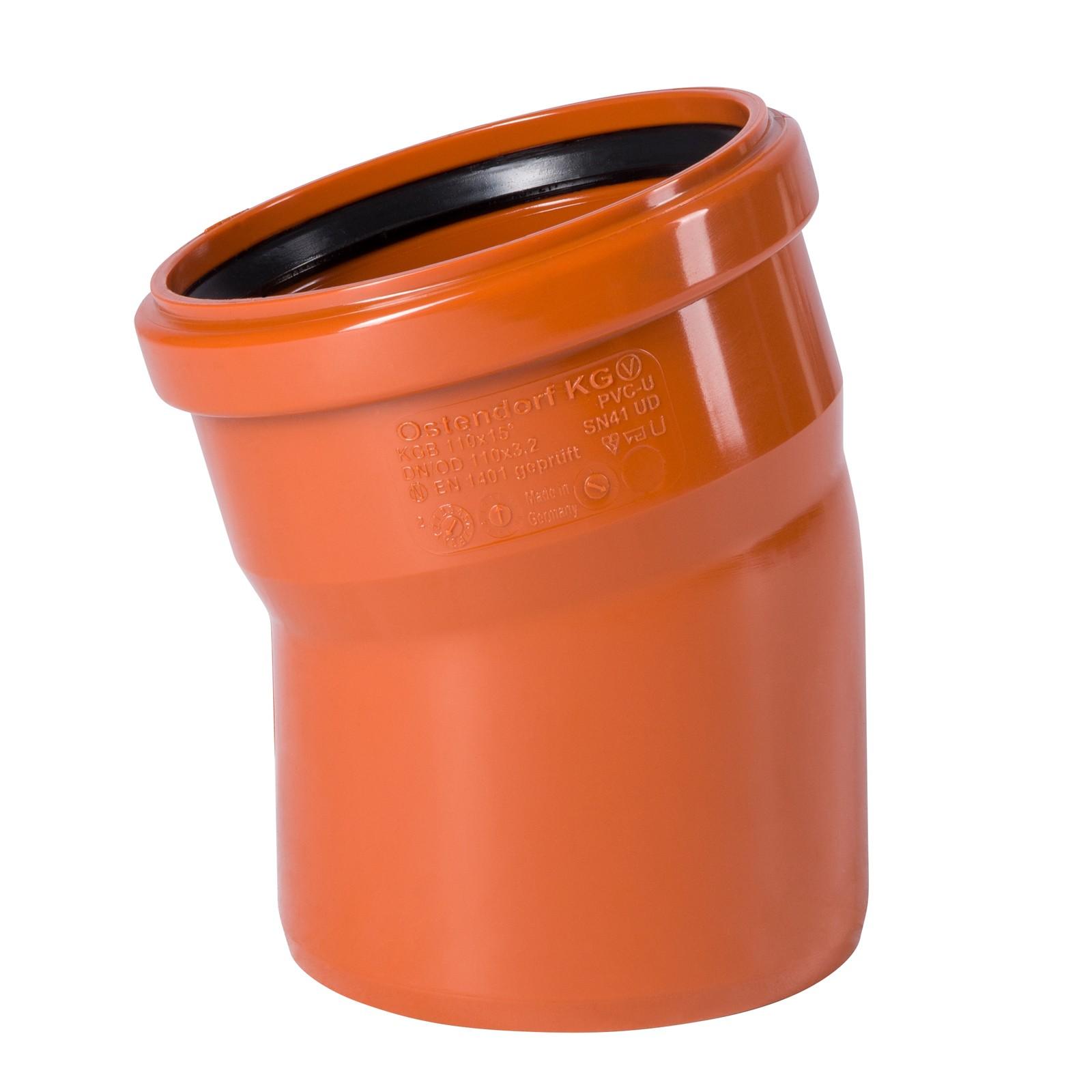 kg bogen dn200 15 grad rohr abwasserrohr kanalrohr orange. Black Bedroom Furniture Sets. Home Design Ideas