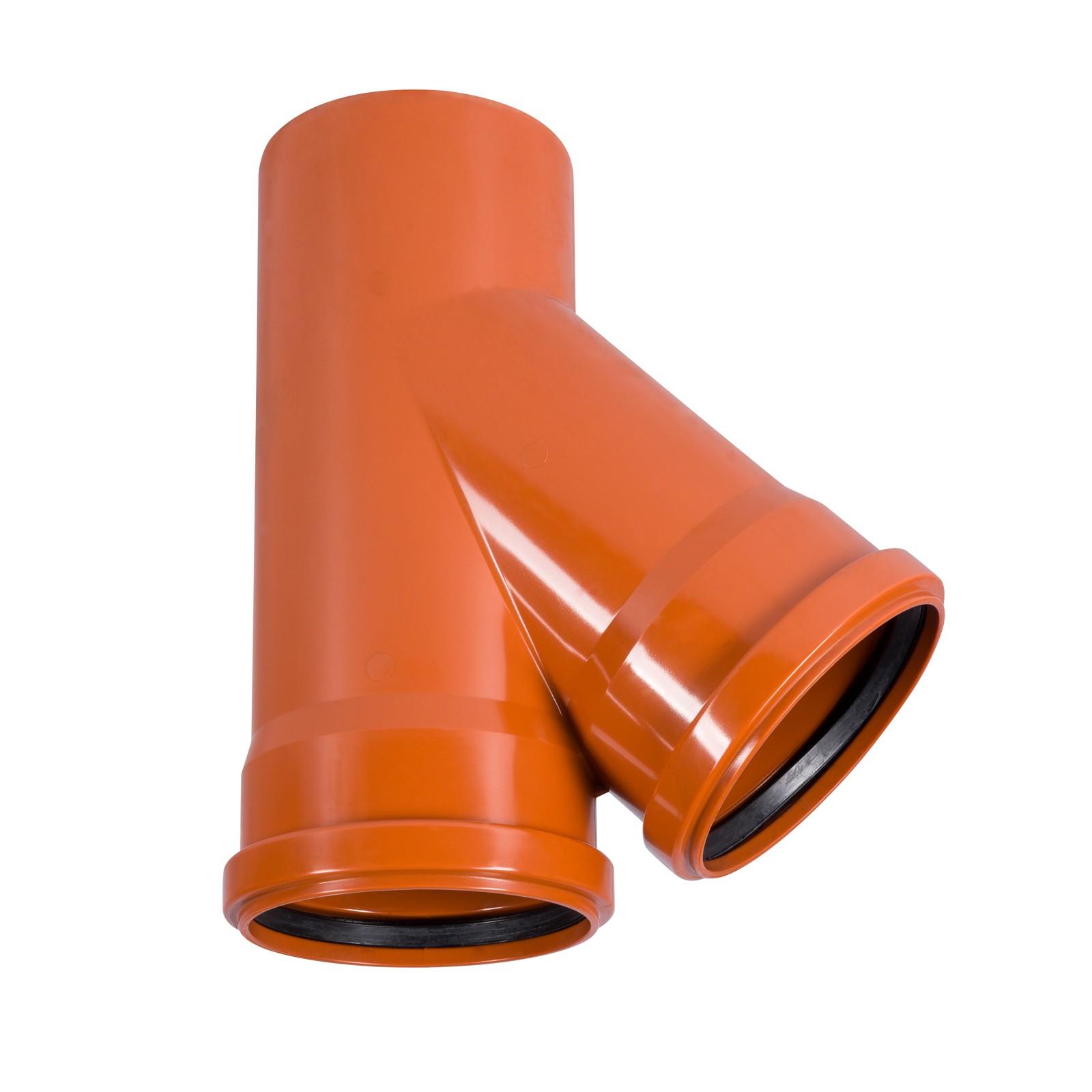 kg abzweig dn160 160 45 abwasserrohr kanalrohr orange. Black Bedroom Furniture Sets. Home Design Ideas