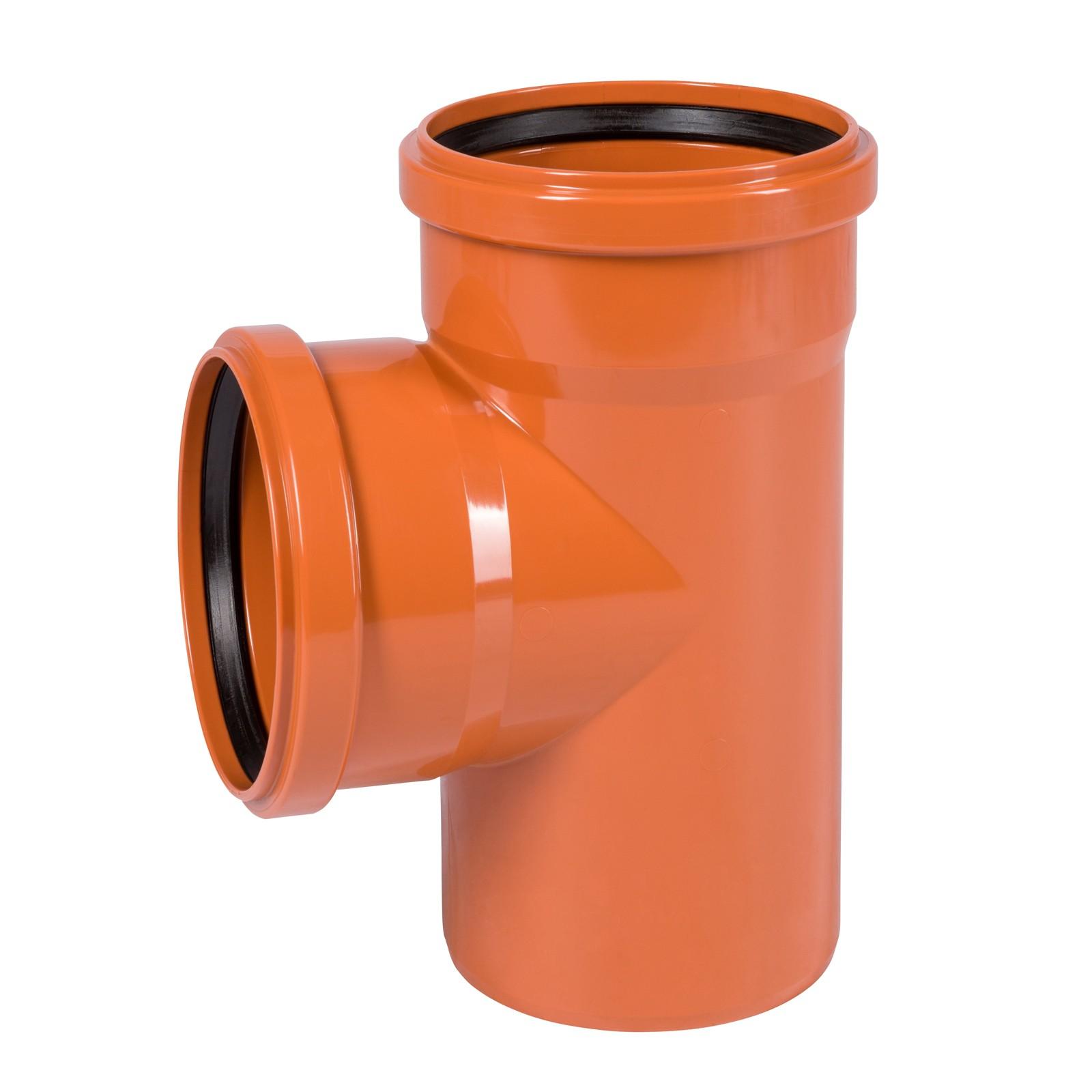 kg abzweig dn125 125 87 abwasserrohr kanalrohr orange. Black Bedroom Furniture Sets. Home Design Ideas