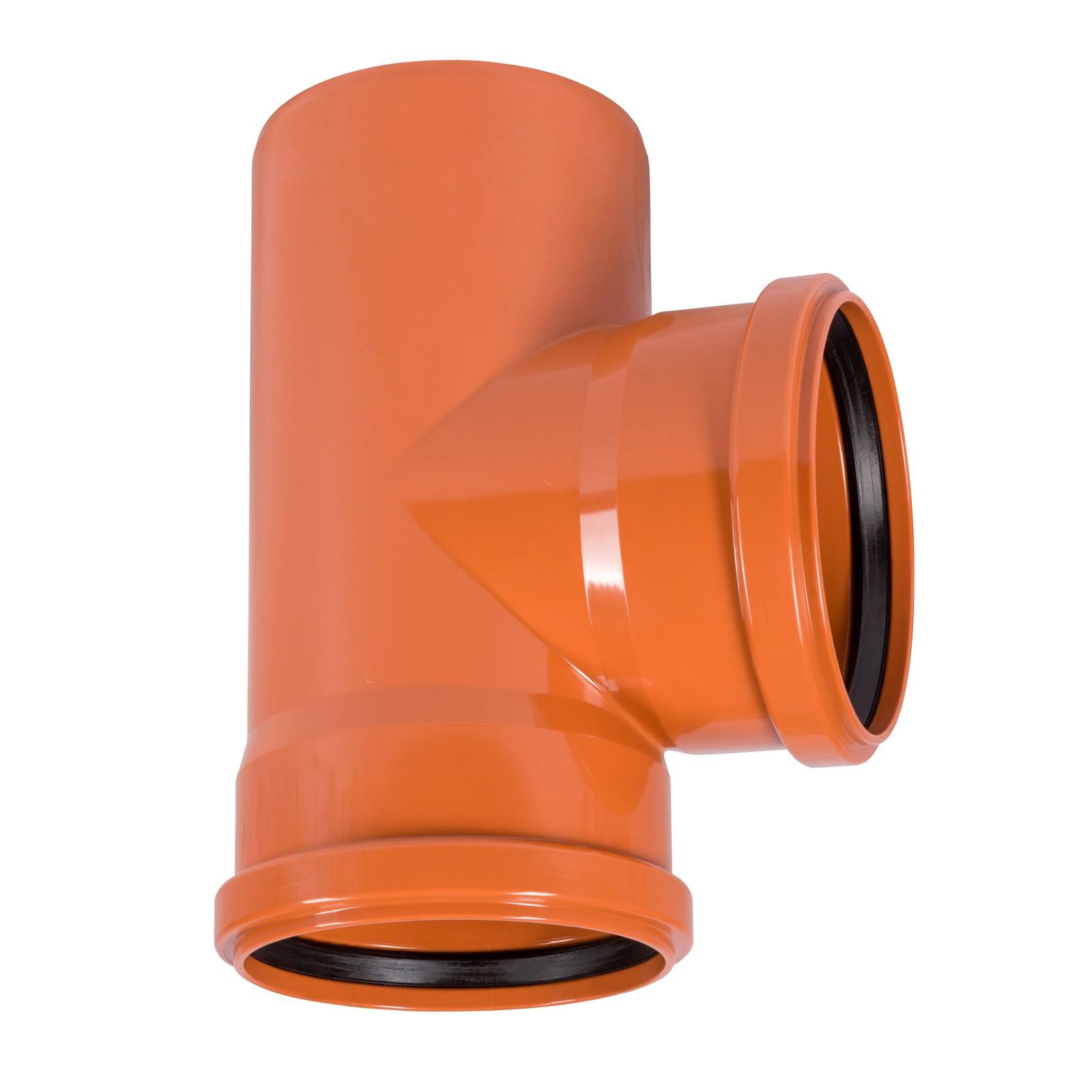 kg abzweig dn 200 110 87 abwasserrohr kanalrohr orange. Black Bedroom Furniture Sets. Home Design Ideas