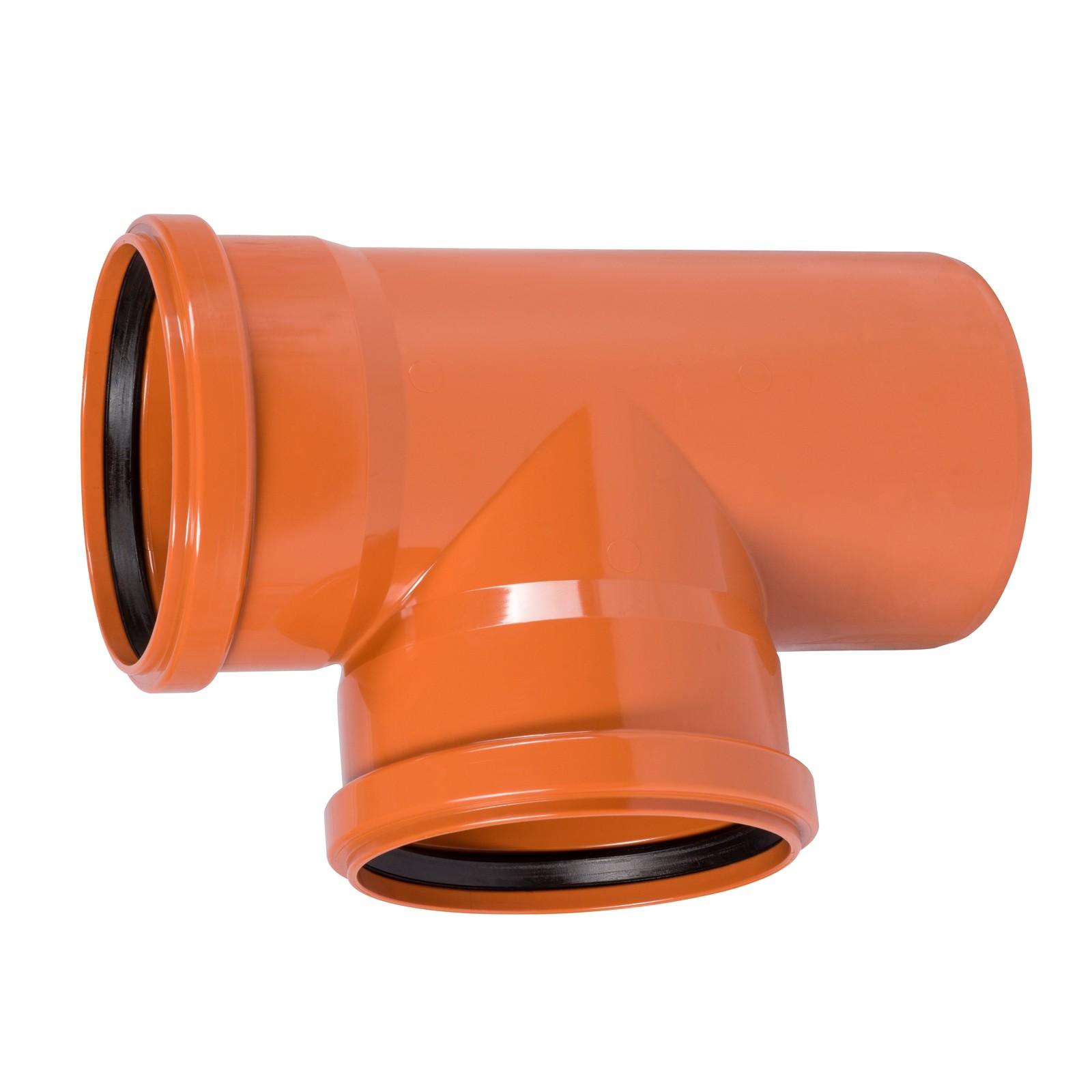 kg abzweig dn 200 125 87 abwasserrohr kanalrohr orange. Black Bedroom Furniture Sets. Home Design Ideas
