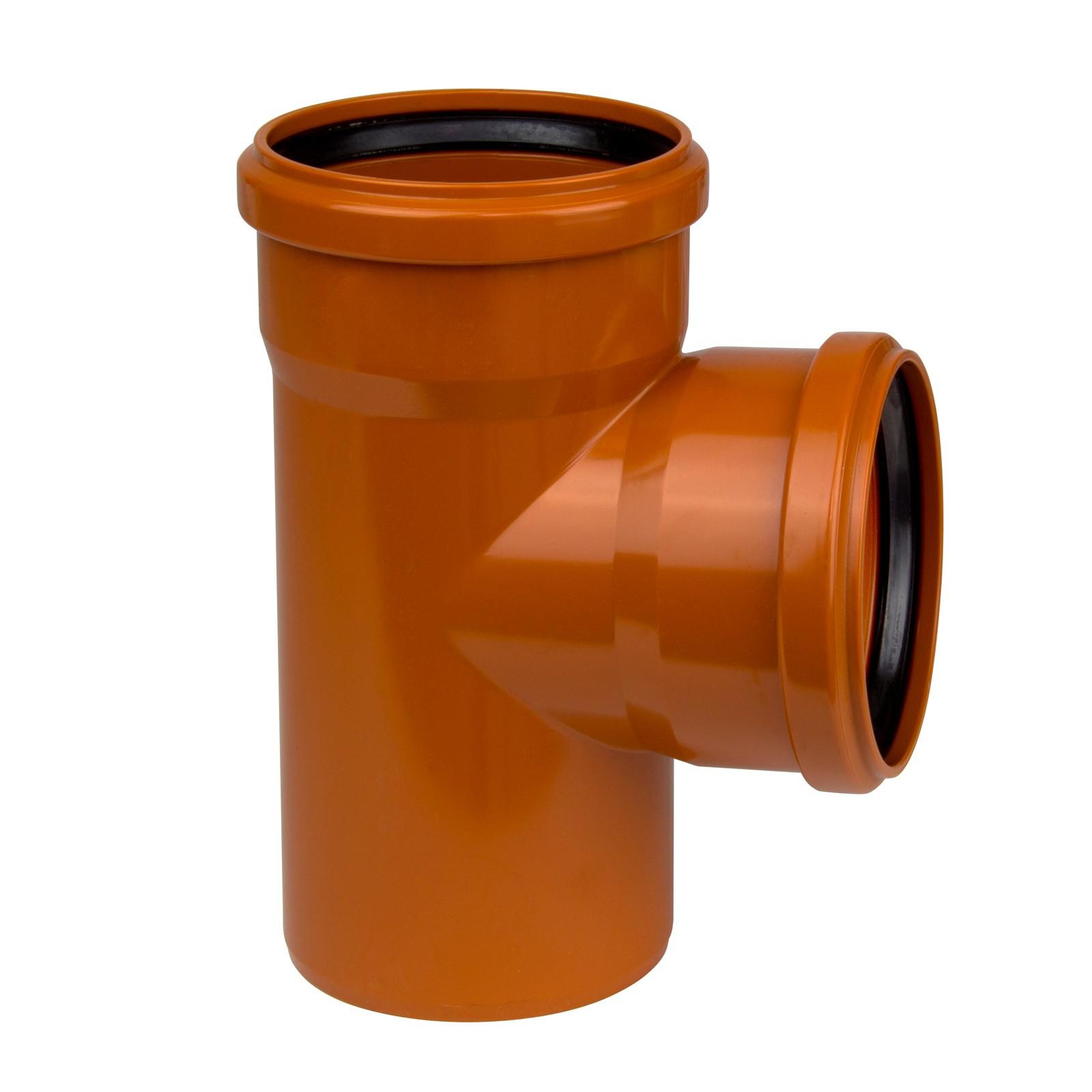 kg abzweig dn 250 250 87 abwasserrohr kanalrohr orange. Black Bedroom Furniture Sets. Home Design Ideas
