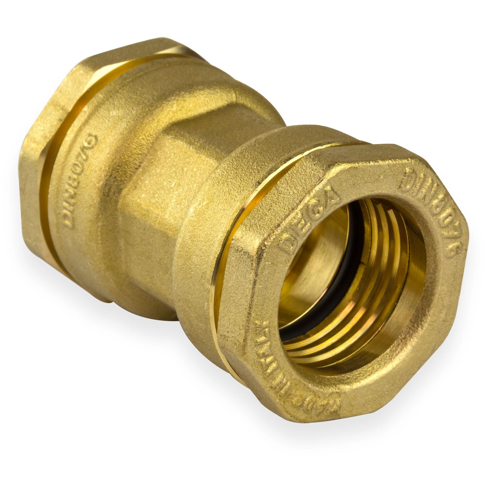 Messing Kupplung DN50 63 mm Muffe Verschraubung PE-Rohr