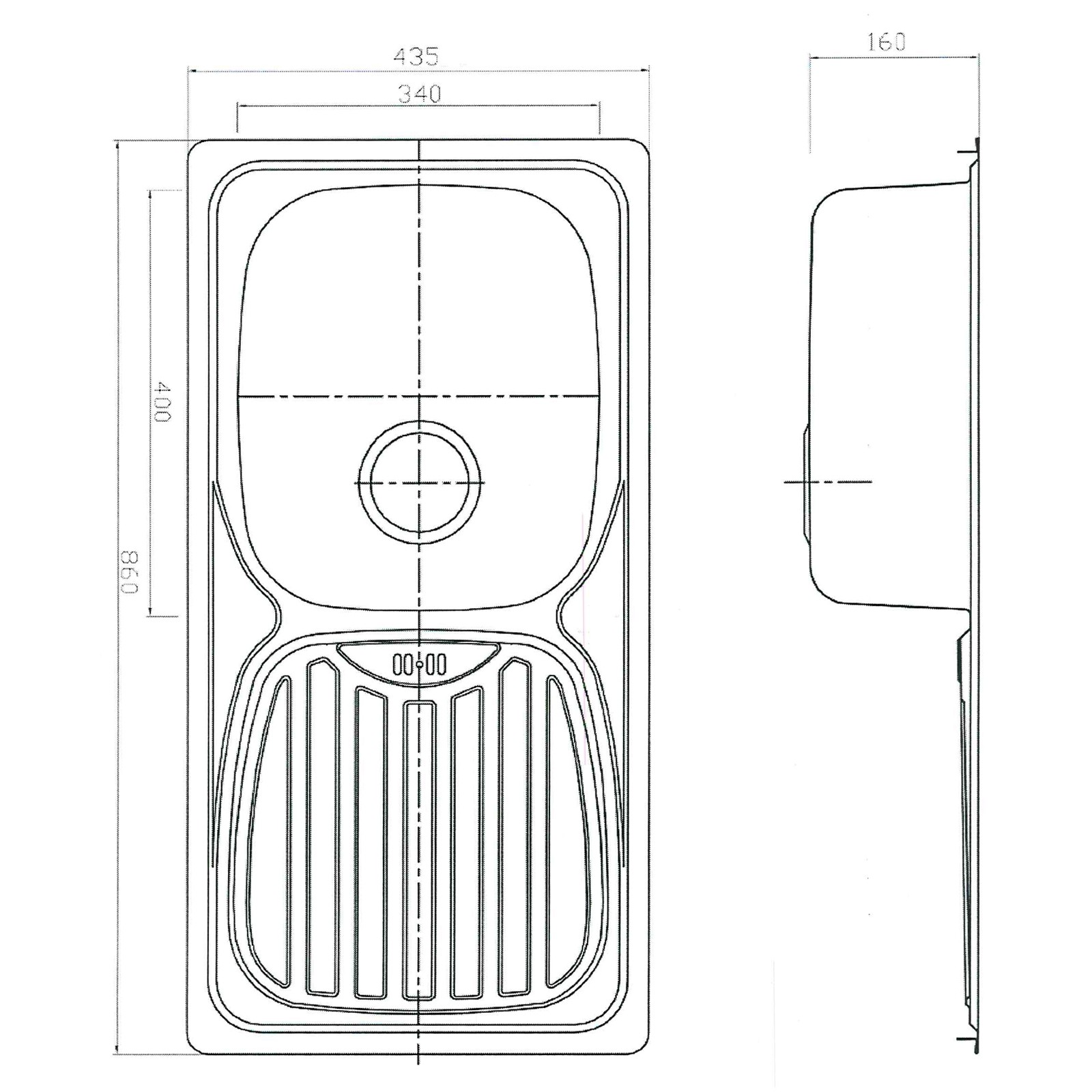 edelstahl waschbecken sp le einbausp le sp lbecken. Black Bedroom Furniture Sets. Home Design Ideas