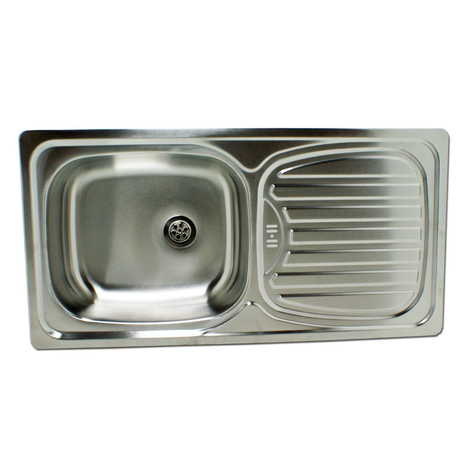 Edelstahl Einbauspüle Alfa1 Waschbecken Spüle Küchenspüle