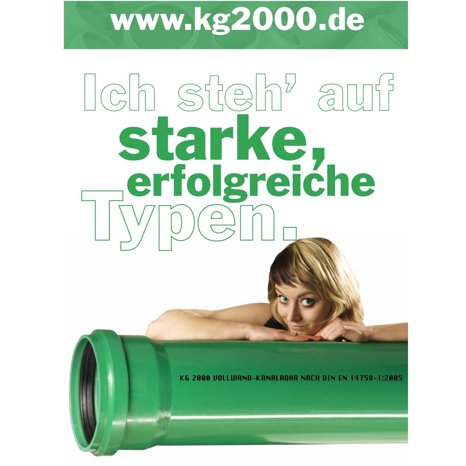 kg 2000 rohr dn160 x 500 mm abwasserrohr kanalrohr gr n. Black Bedroom Furniture Sets. Home Design Ideas