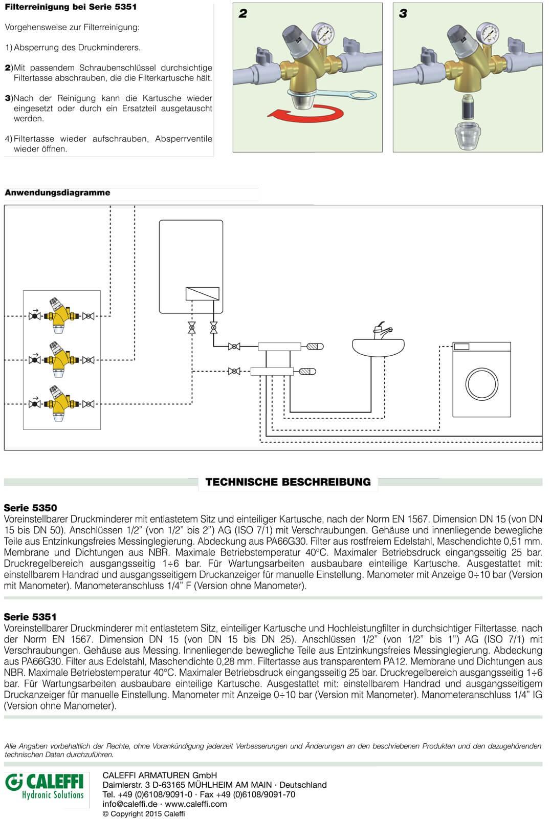druckminderer 1 2 zoll dn15 f r wasser mit manometer. Black Bedroom Furniture Sets. Home Design Ideas