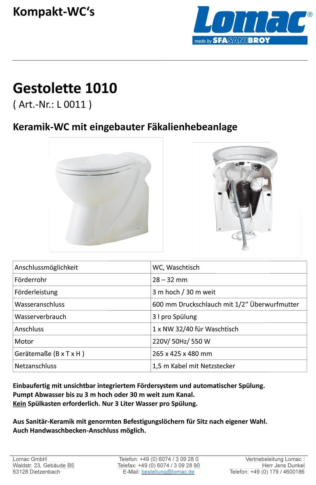 Stand Wc Mit Pumpe Gestolette 1010 Keramik Wc Mit Hebeanlage