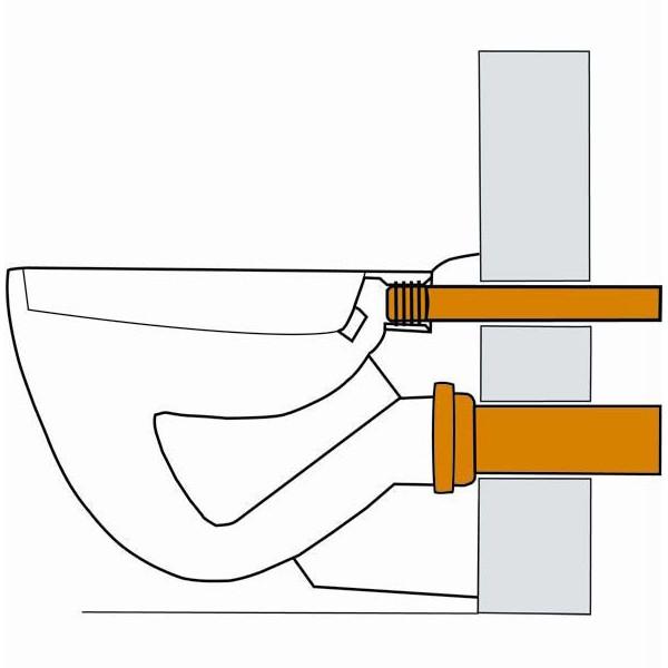 wand wc anschlussgarnitur dn90 300mm anschlu stutzen. Black Bedroom Furniture Sets. Home Design Ideas