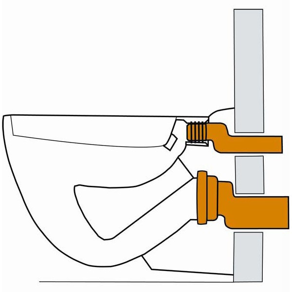anschlussgarnitur ablaufgarnitur dn110 etagiert wand wc. Black Bedroom Furniture Sets. Home Design Ideas