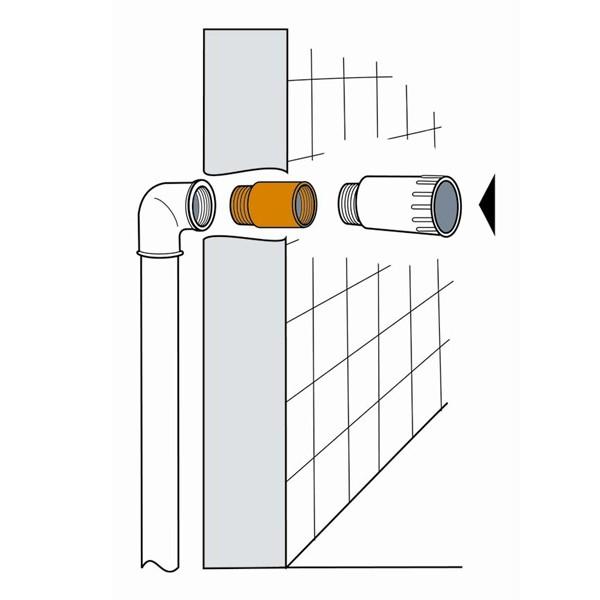 Relativ Luftdicht-Manschetten für Wasser- und Abwasserrohre MI66