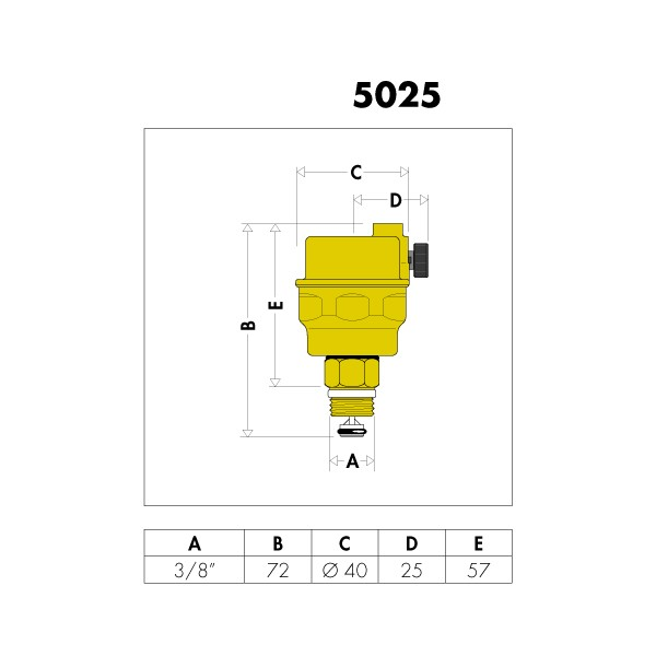 automatischer schnellentl fter 3 8 systementl fter heizung entl ftungsventil. Black Bedroom Furniture Sets. Home Design Ideas