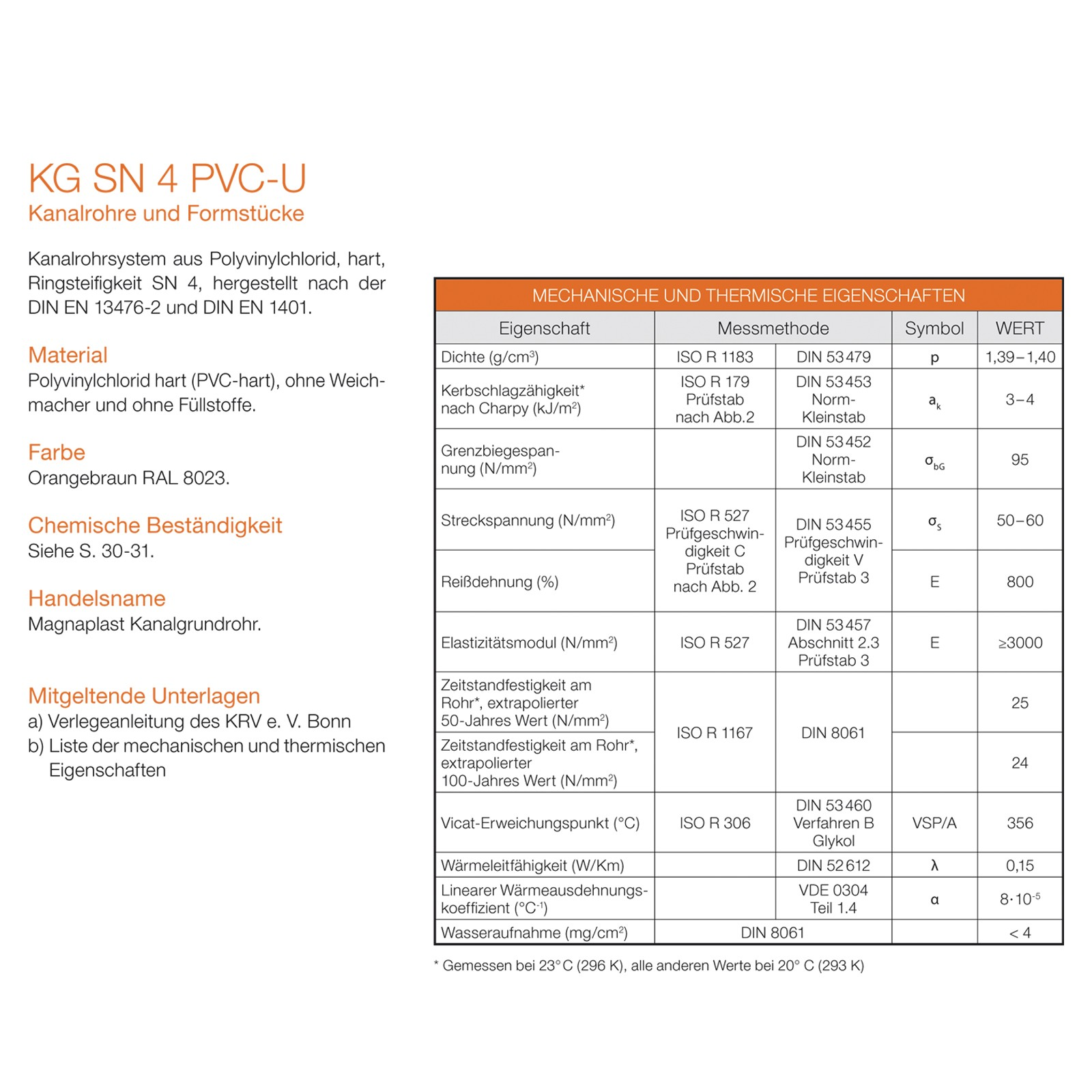 kg rohr dn200 500mm abwasserrohr kanalrohr orange. Black Bedroom Furniture Sets. Home Design Ideas