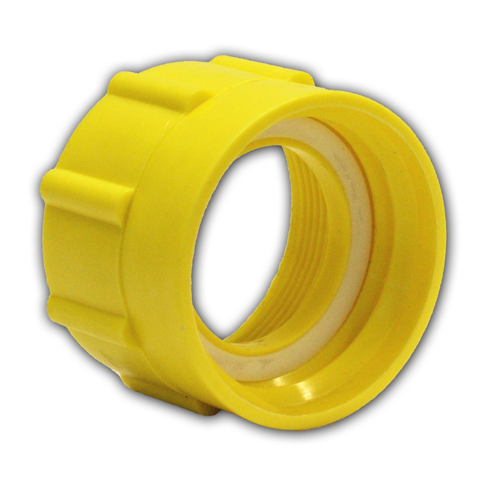 "IBC Kunststoff Adapter Kappe S60x6 1/"" 3//4 Zoll Innengewinde Schraubkappe Deckel"