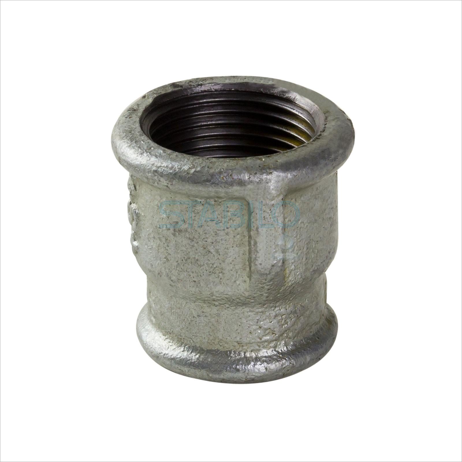 Rohr Reduziermuffe 1 1/2 x 1 1/4 Zoll IG/IG Gewinde Fitting verzinkt