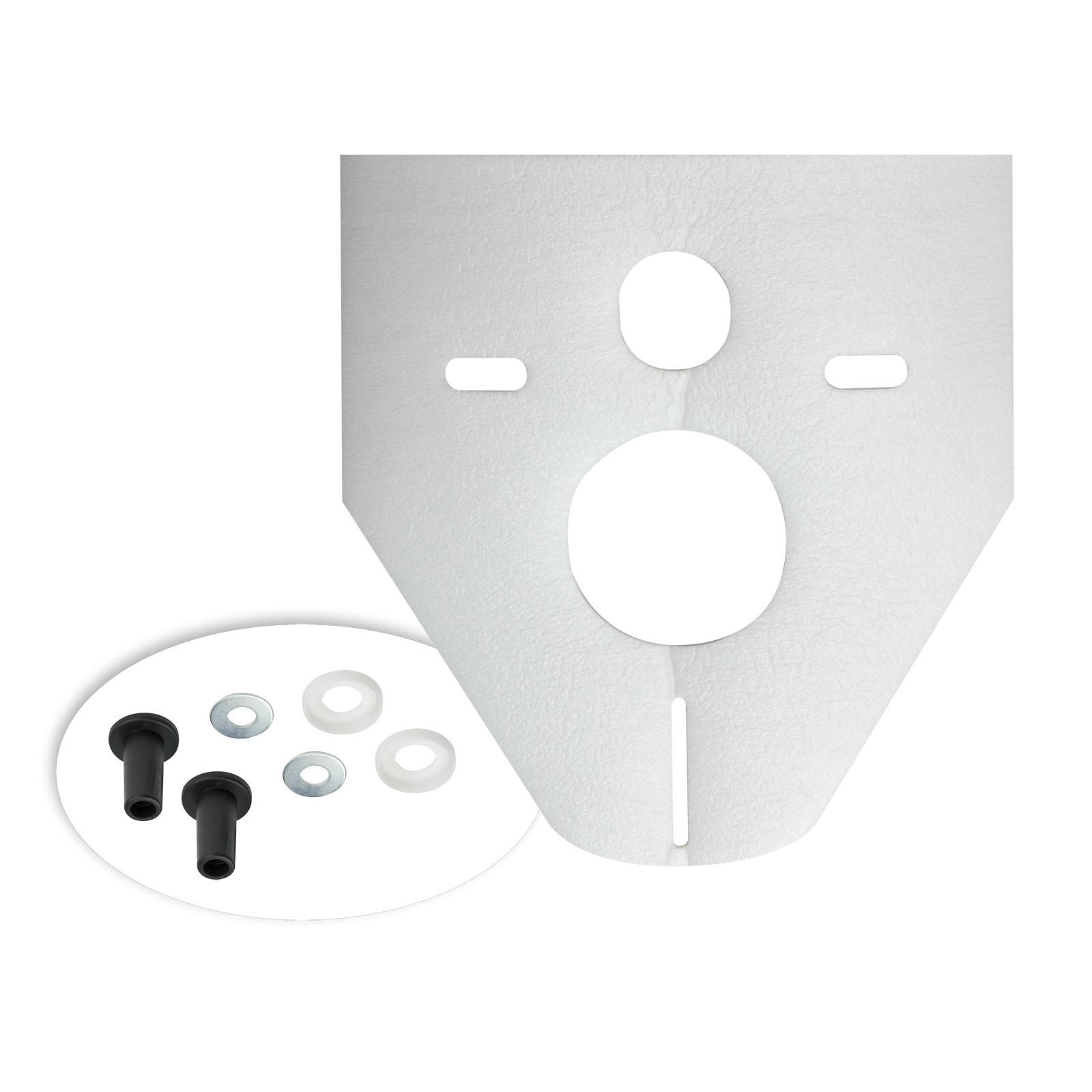 schallschutzunterlage 422 x 372 mm wand wc schallschutz set. Black Bedroom Furniture Sets. Home Design Ideas