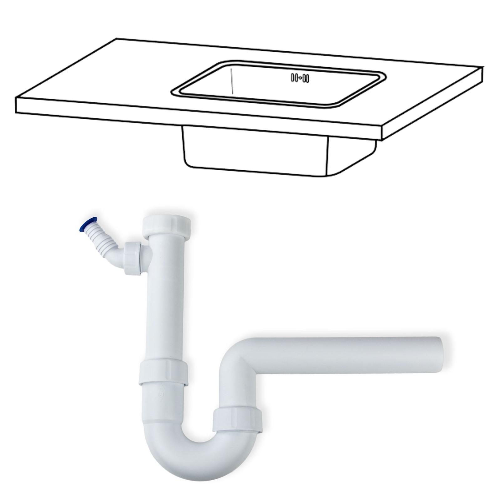 r hrensiphon 1 1 2 zoll x dn40 50 kunststoff siphon sifon sp lensiphon k che ebay. Black Bedroom Furniture Sets. Home Design Ideas