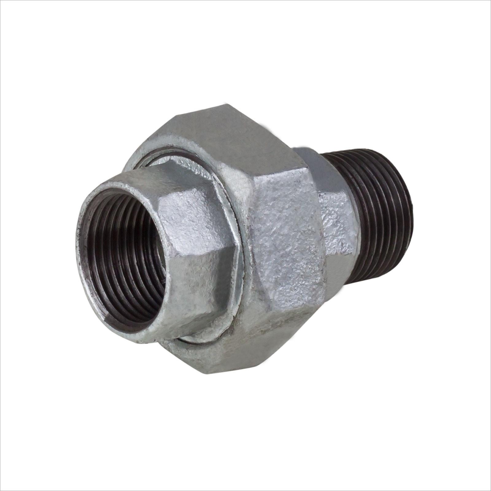 Rohr Verschraubung 1/2 Zoll IG/AG DN15 verzinkt mit Dichtung