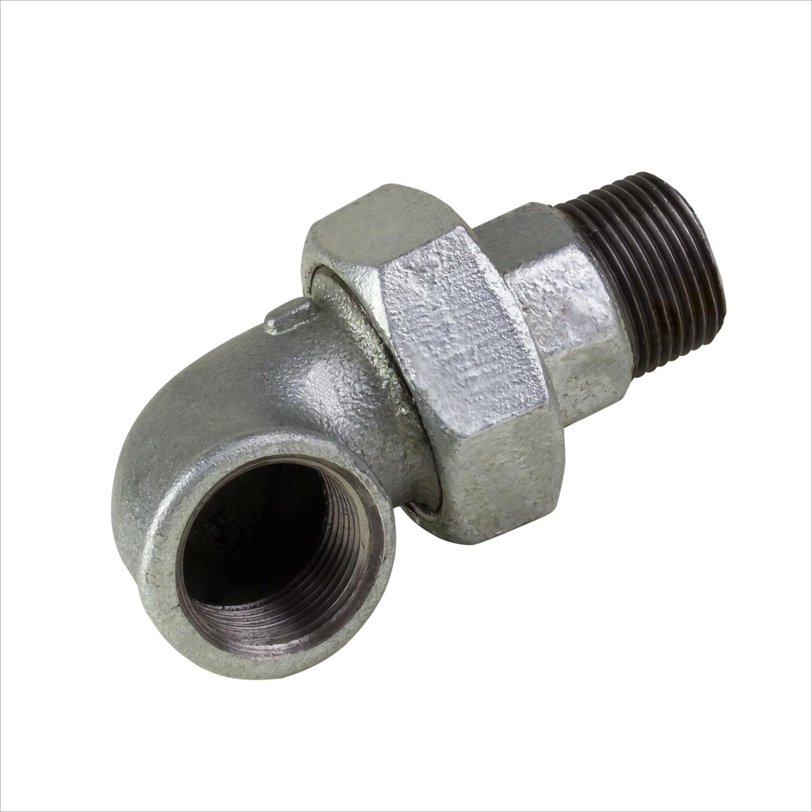 Rohr Winkelverschraubung 1/2 Zoll IG/AG verzinkt mit Dichtung