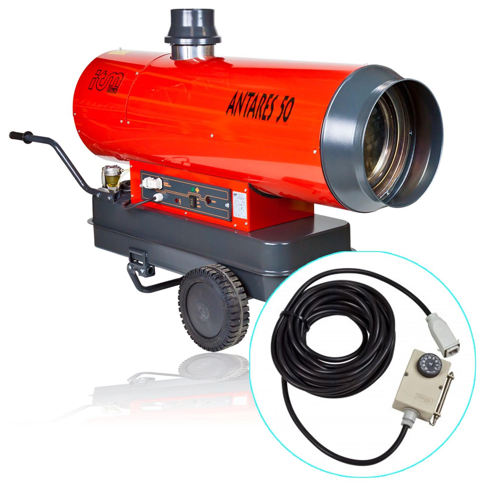 Ölheizgerät Antares 50 Diesel Heizkanone 50kW + Thermostat